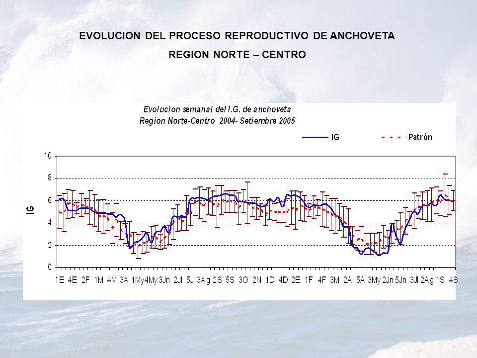 EVOLUCION DEL PROCESO REPRODUCTIVO DE ANCHOVETA