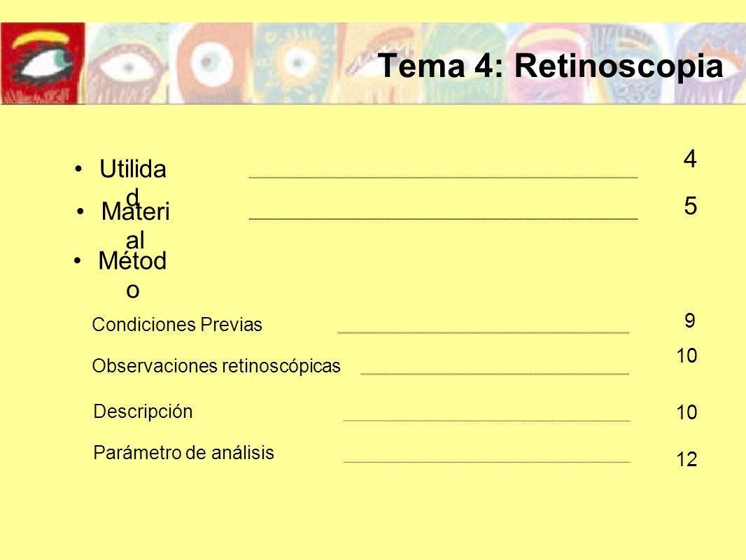 Observaciones retinoscópicas