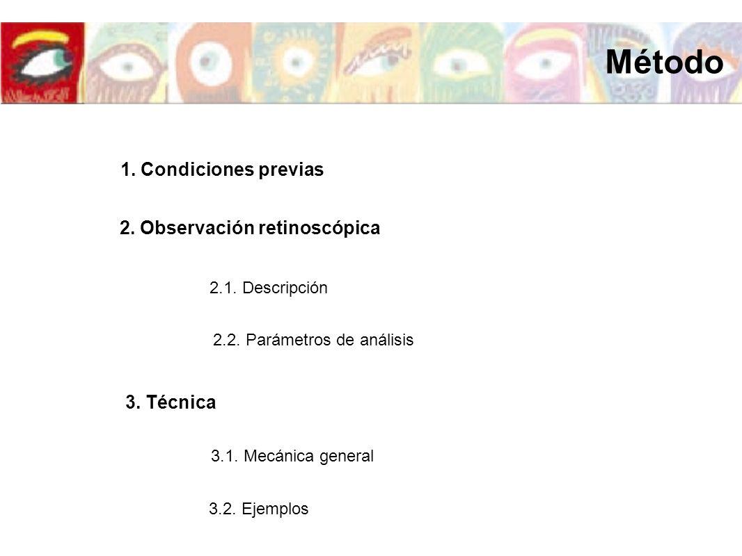 2. Observación retinoscópica
