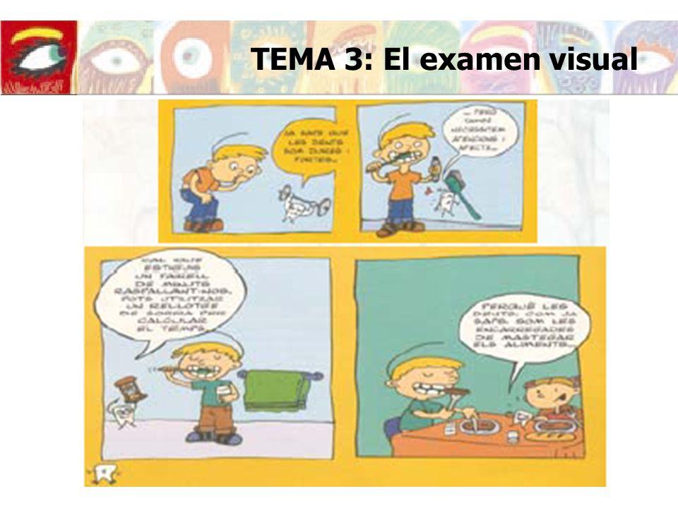 TEMA 3: El examen visual Consejos de higiene bucal para niños con dibujos.