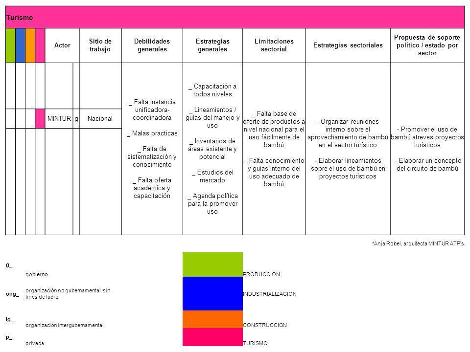 Debilidades generales Estrategias generales Limitaciones sectorial