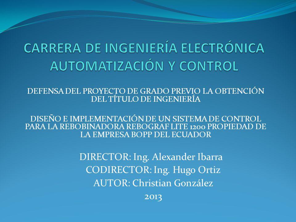 CARRERA DE INGENIERÍA ELECTRÓNICA AUTOMATIZACIÓN Y CONTROL