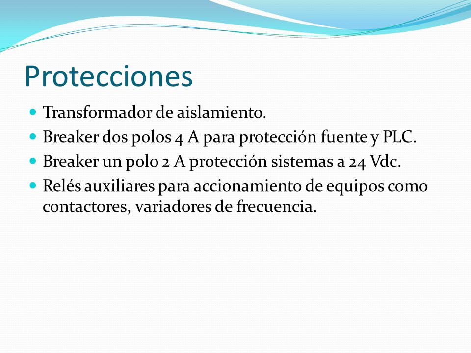 Protecciones Transformador de aislamiento.