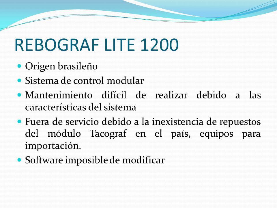 REBOGRAF LITE 1200 Origen brasileño Sistema de control modular