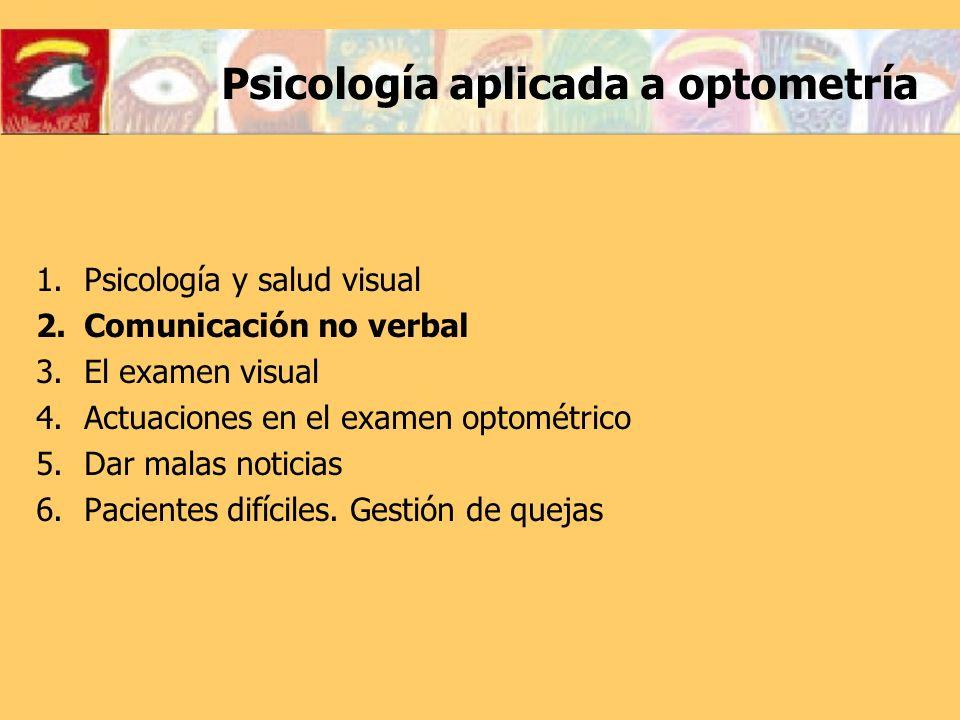 Psicología aplicada a optometría