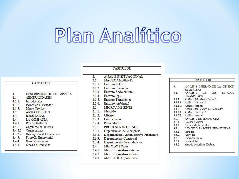 Plan Analítico