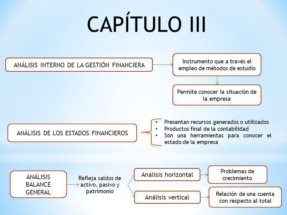 CAPÍTULO IiI ANÁLISIS INTERNO DE LA GESTIÓN FINANCIERA