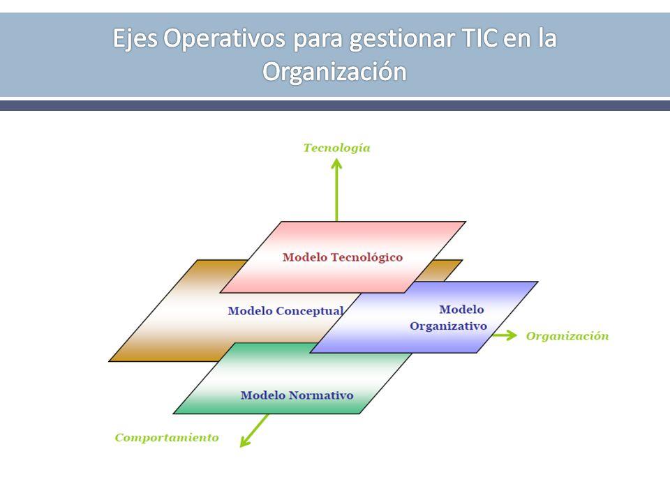 Ejes Operativos para gestionar TIC en la Organización