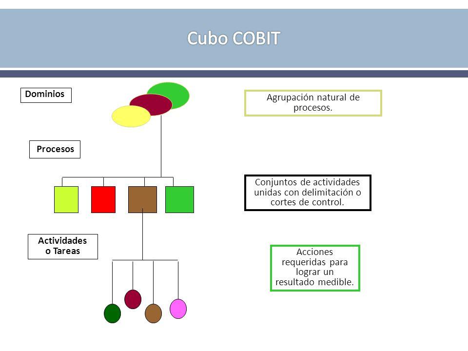 Cubo COBIT Procesos Dominios Agrupación natural de procesos.