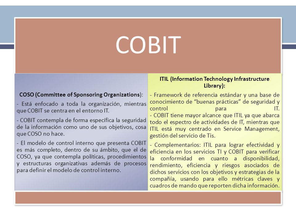ITIL (Information Technology Infrastructure Library):