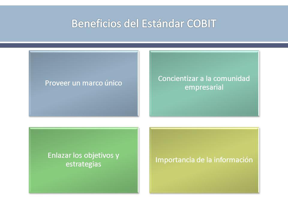 Beneficios del Estándar COBIT