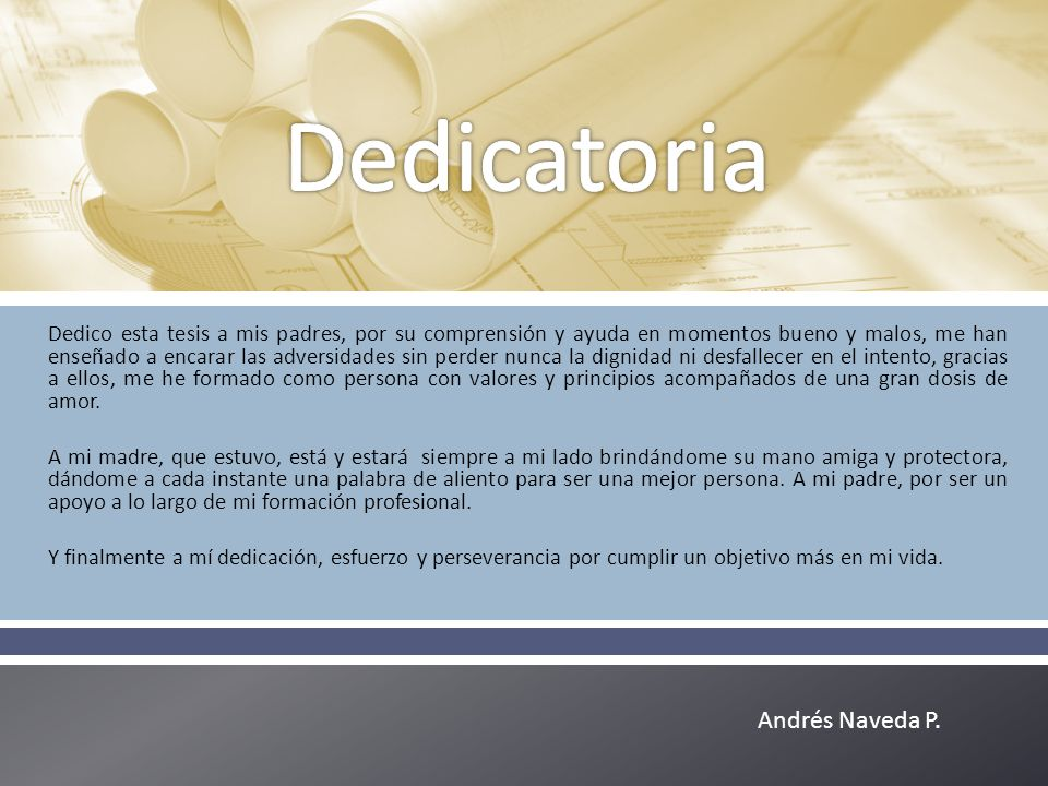 Dedicatoria Andrés Naveda P.