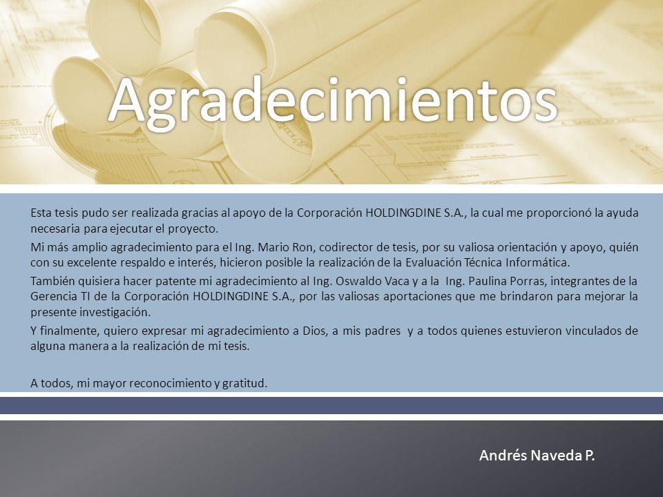Agradecimientos Andrés Naveda P.