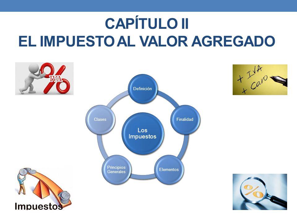 CAPÍTULO II EL IMPUESTO AL VALOR AGREGADO