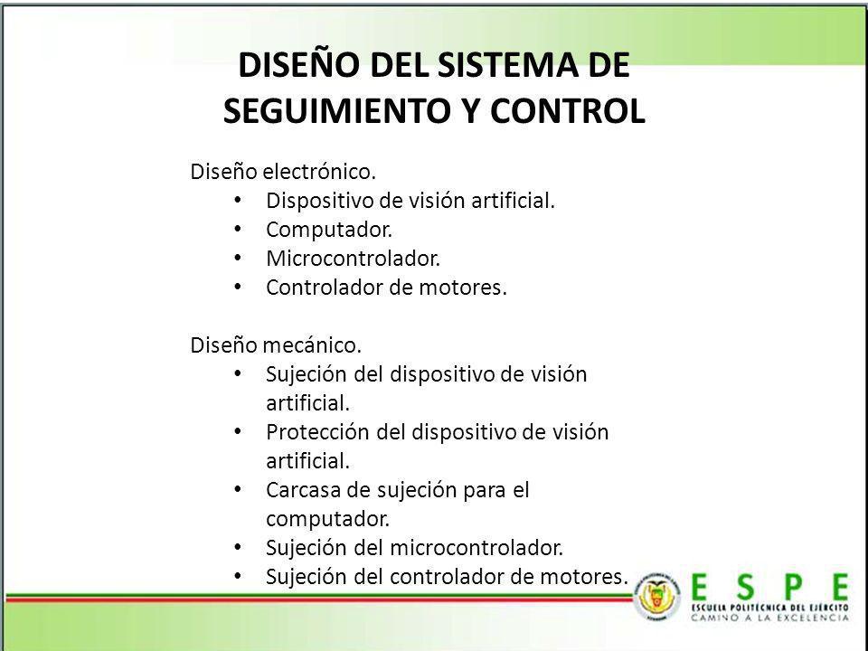 DISEÑO DEL SISTEMA DE SEGUIMIENTO Y CONTROL
