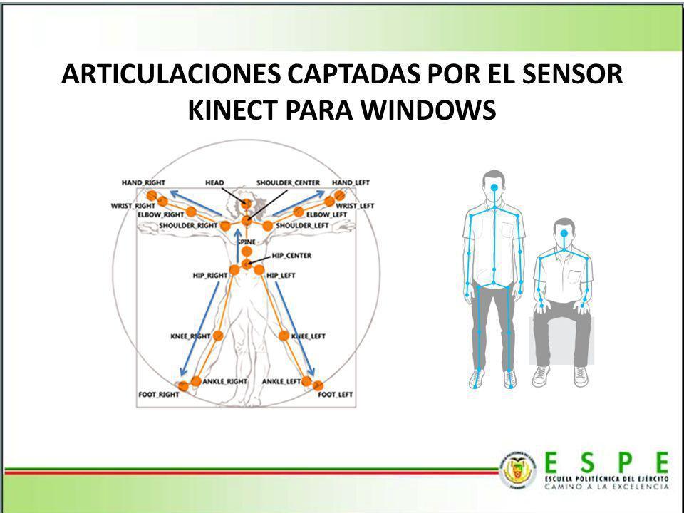 ARTICULACIONES CAPTADAS POR EL SENSOR KINECT PARA WINDOWS