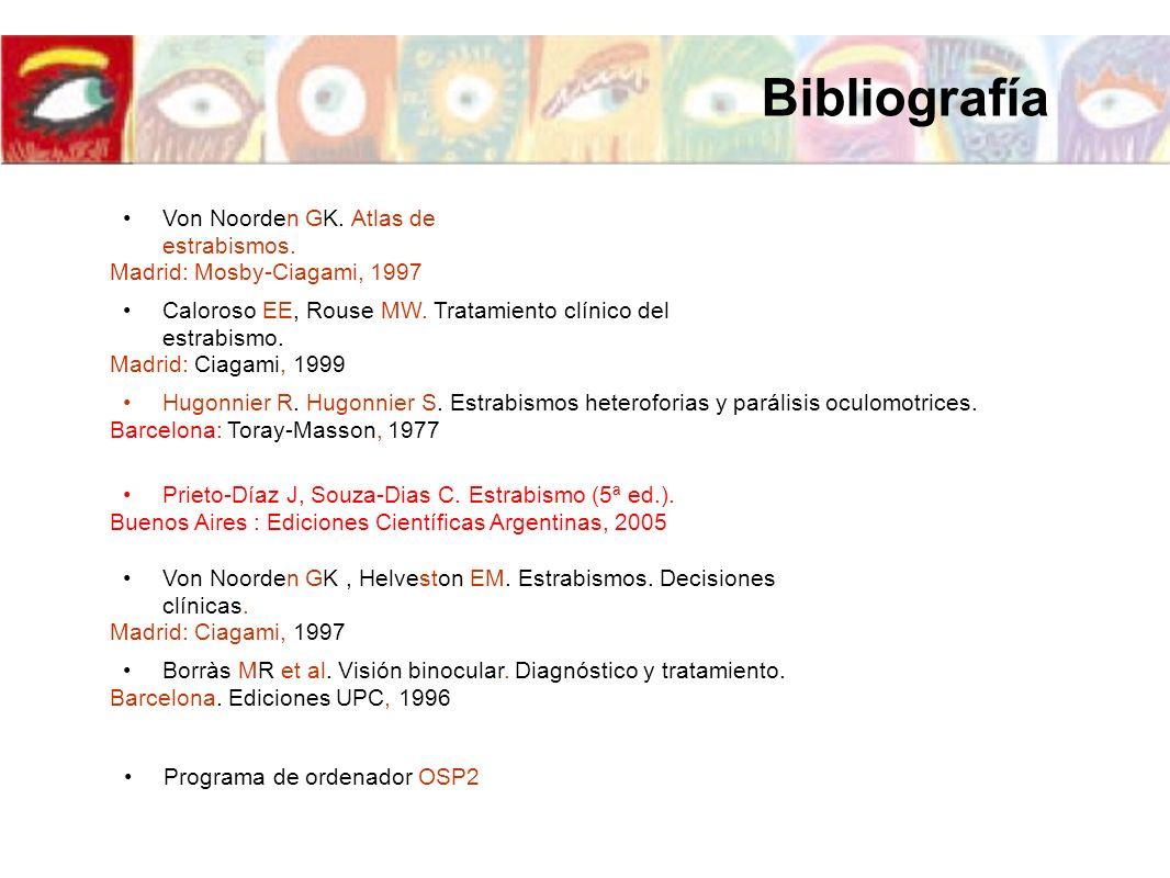 Bibliografía Von Noorden GK. Atlas de estrabismos.