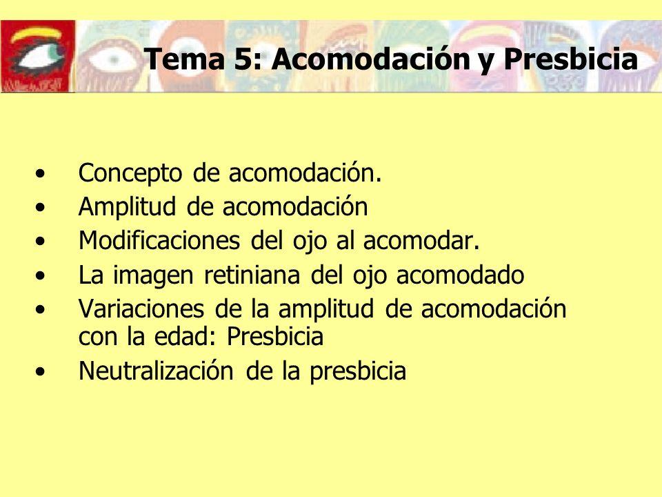 Tema 5: Acomodación y Presbicia