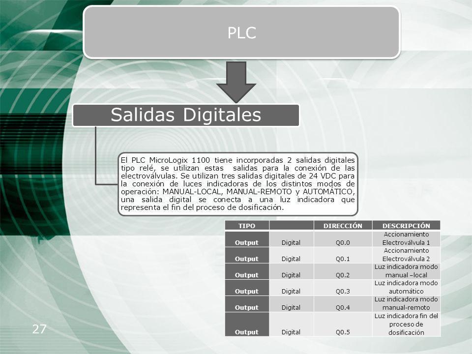 PLC Salidas Digitales.