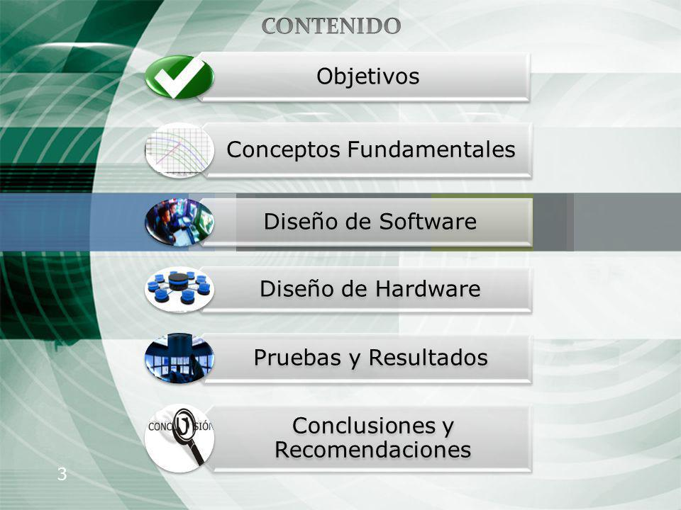 CONTENIDO Objetivos Conceptos Fundamentales Diseño de Software