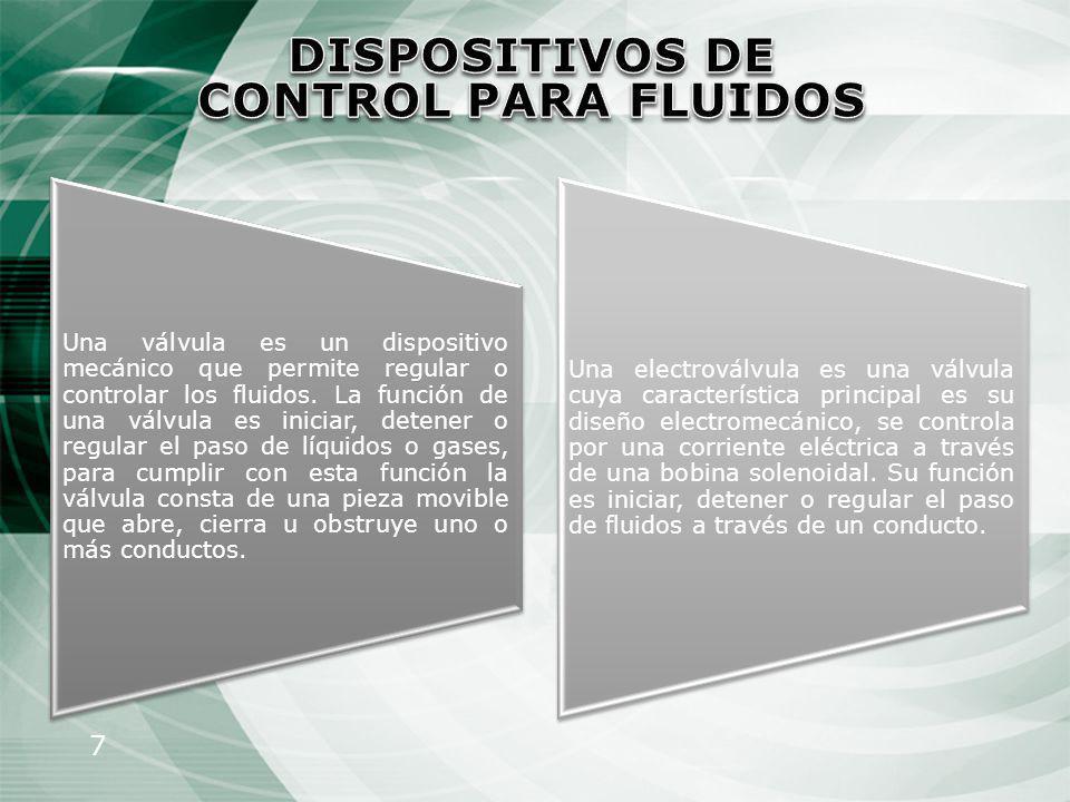 DISPOSITIVOS DE CONTROL PARA FLUIDOS