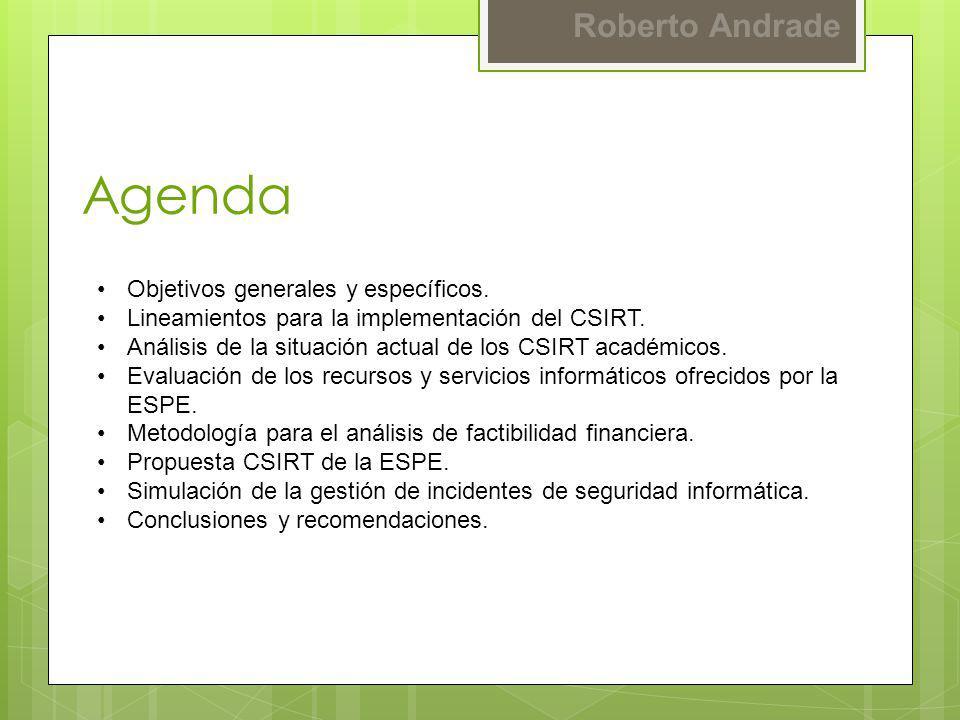 Agenda Objetivos generales y específicos.