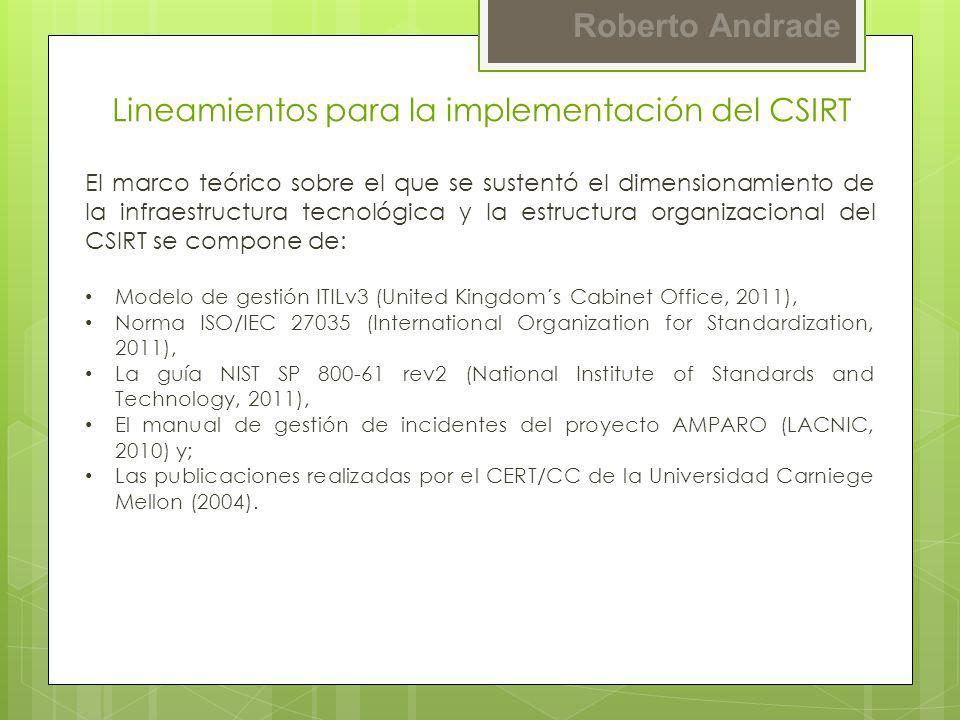 Lineamientos para la implementación del CSIRT