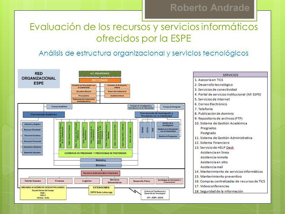 Análisis de estructura organizacional y servicios tecnológicos