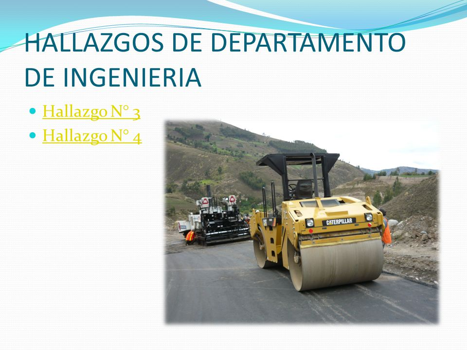 HALLAZGOS DE DEPARTAMENTO DE INGENIERIA