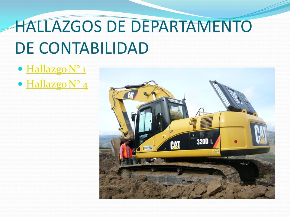 HALLAZGOS DE DEPARTAMENTO DE CONTABILIDAD