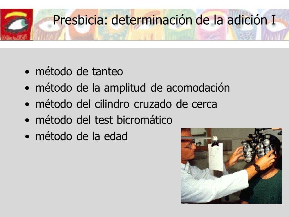 Presbicia: determinación de la adición I