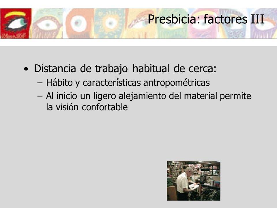 Presbicia: factores III