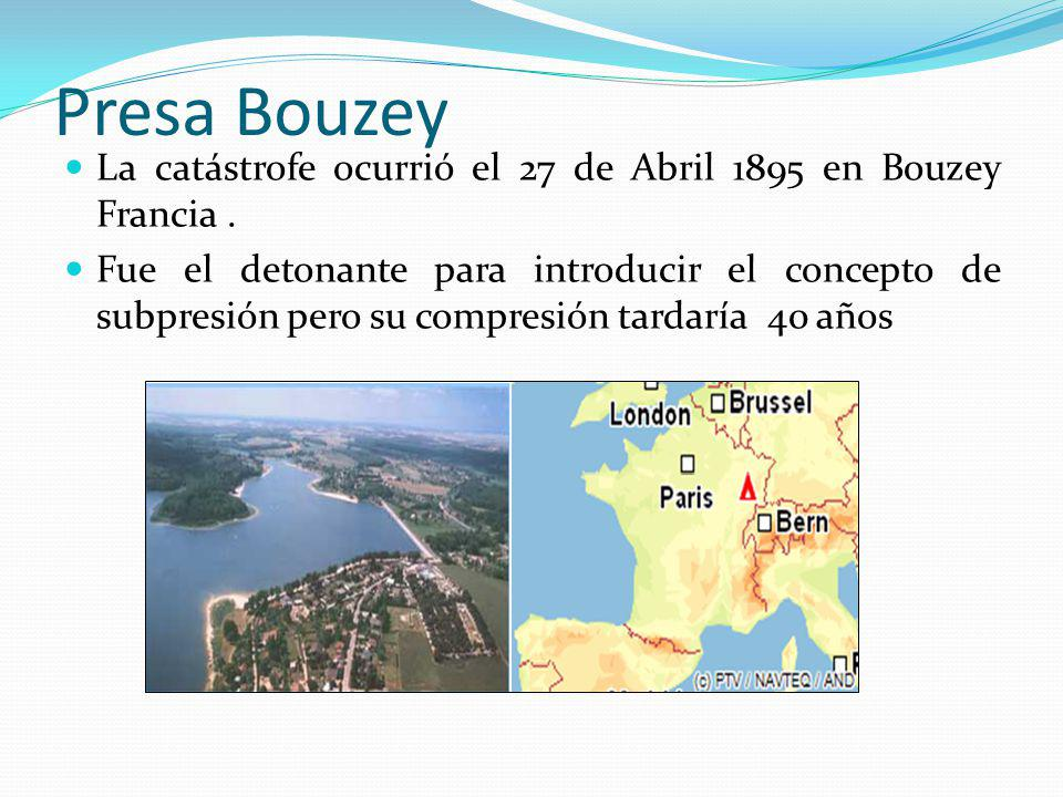 Presa Bouzey La catástrofe ocurrió el 27 de Abril 1895 en Bouzey Francia .