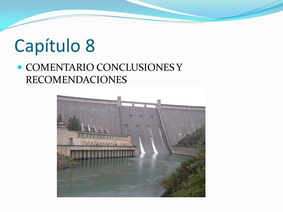 Capítulo 8 COMENTARIO CONCLUSIONES Y RECOMENDACIONES