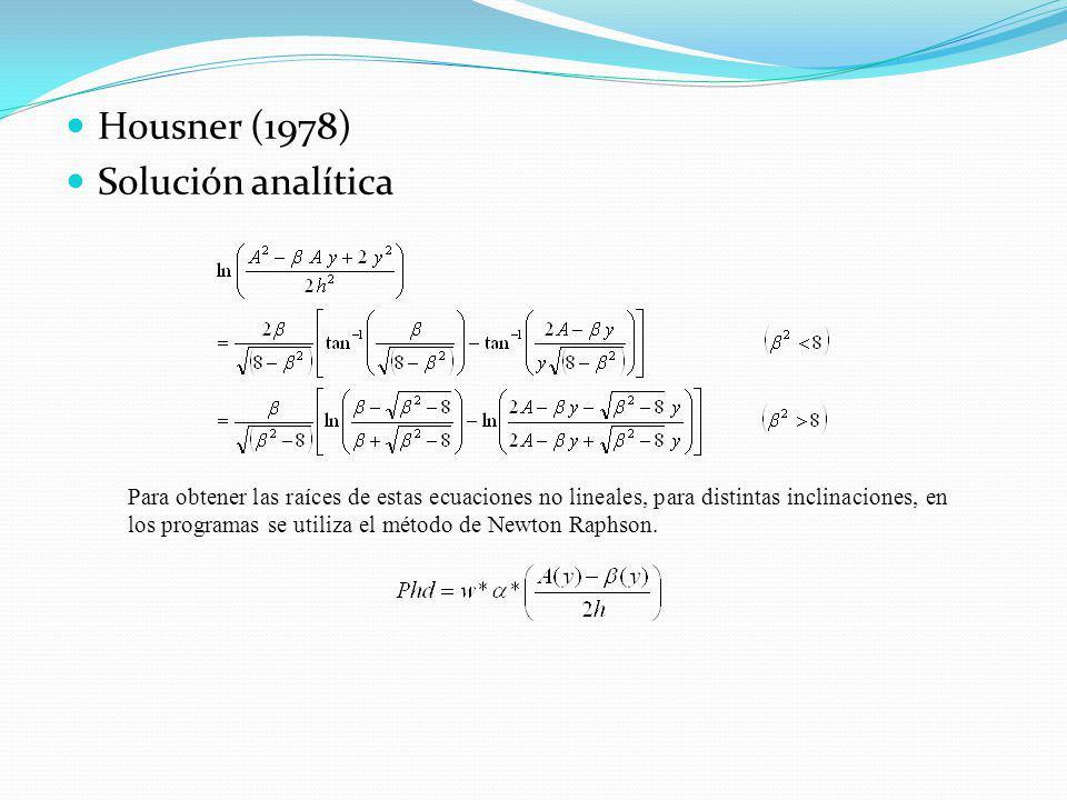 Housner (1978) Solución analítica