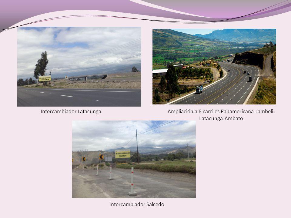 Ampliación a 6 carriles Panamericana Jambeli-Latacunga-Ambato
