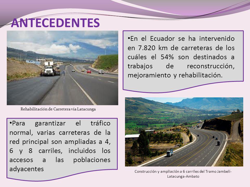 Rehabilitación de Carretera vía Latacunga