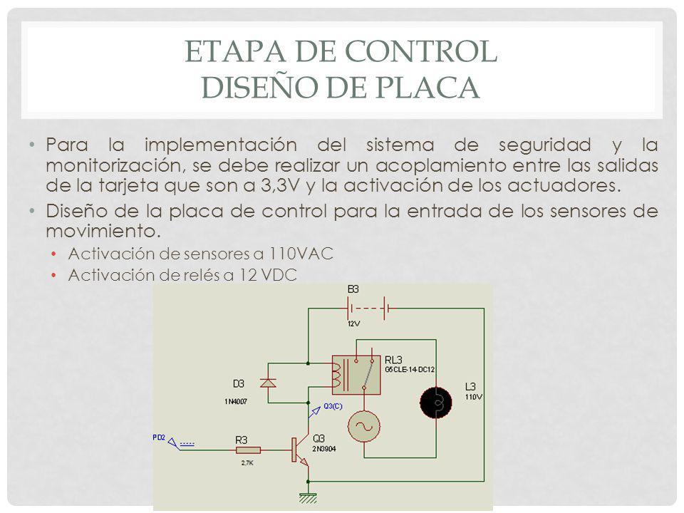 Etapa de control diseño de placa