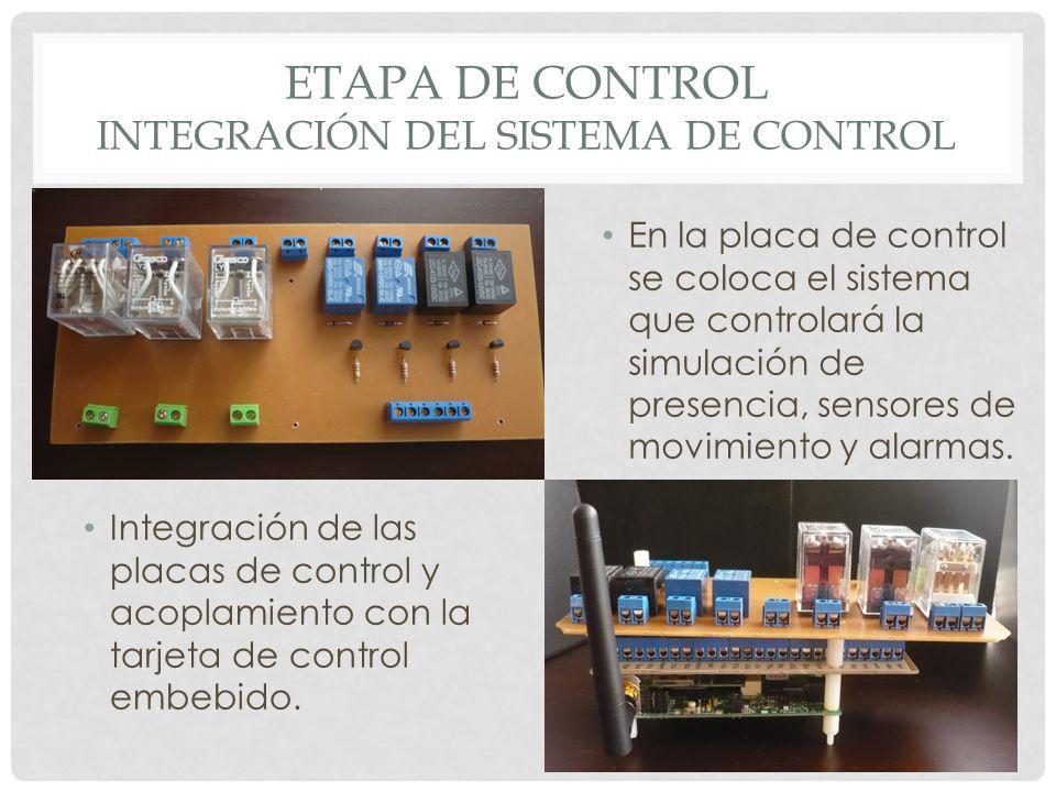 Etapa de control integración del sistema de control