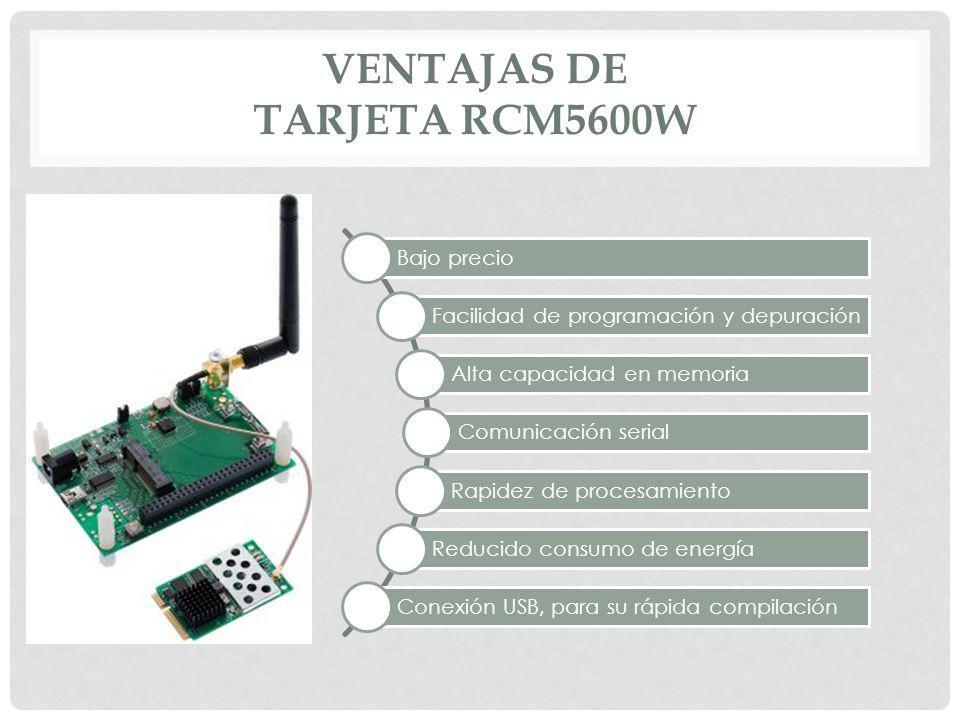 Ventajas de Tarjeta RCM5600W