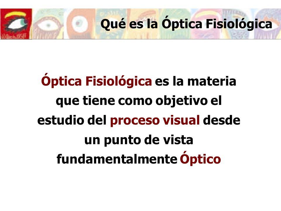 Qué es la Óptica Fisiológica