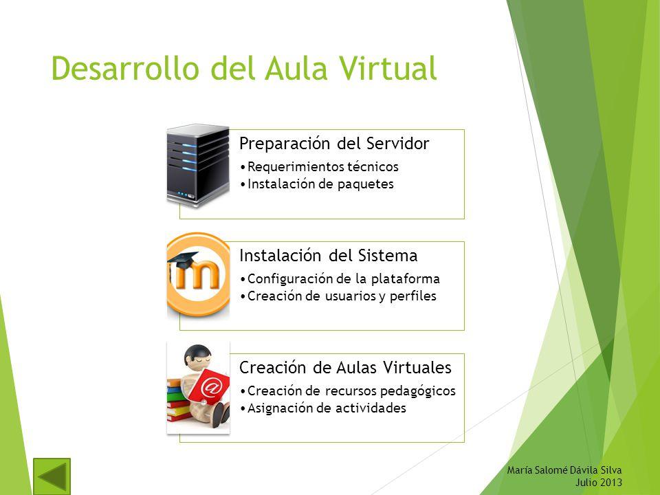 Desarrollo del Aula Virtual
