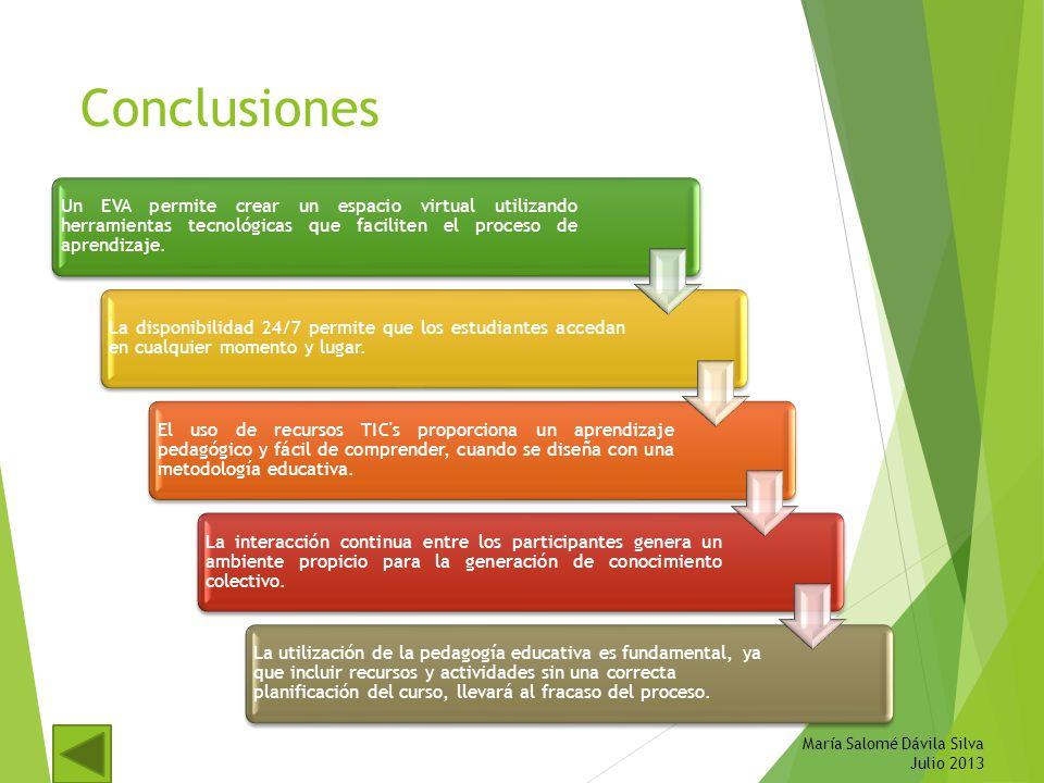 Conclusiones María Salomé Dávila Silva Julio 2013
