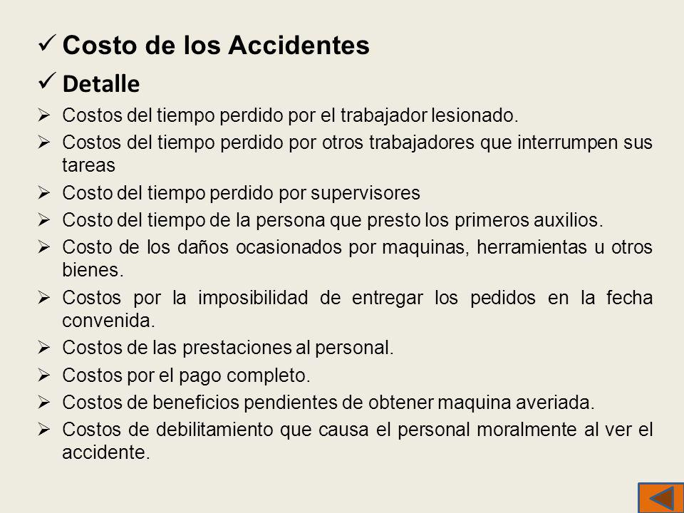 Costo de los Accidentes Detalle