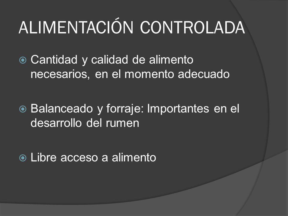 ALIMENTACIÓN CONTROLADA