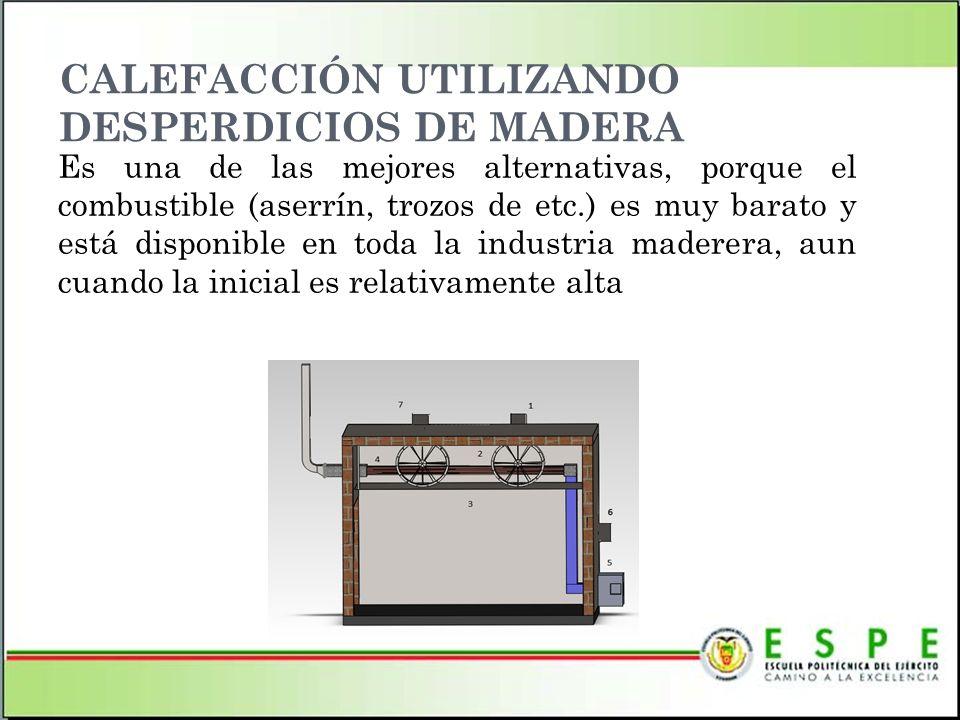 CALEFACCIÓN UTILIZANDO DESPERDICIOS DE MADERA