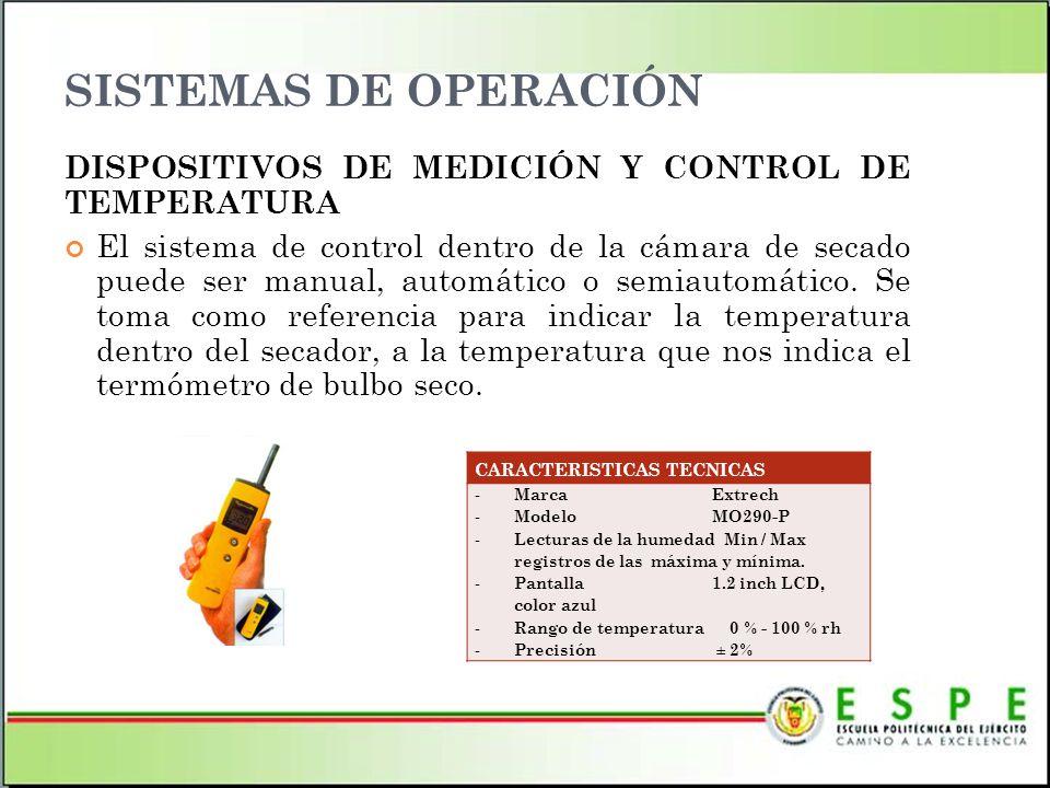 SISTEMAS DE OPERACIÓN DISPOSITIVOS DE MEDICIÓN Y CONTROL DE TEMPERATURA.