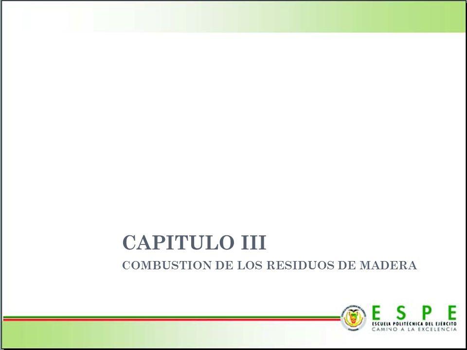 COMBUSTION DE LOS RESIDUOS DE MADERA