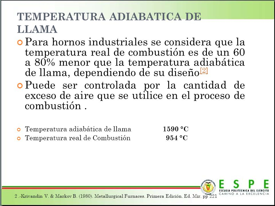 TEMPERATURA ADIABATICA DE LLAMA