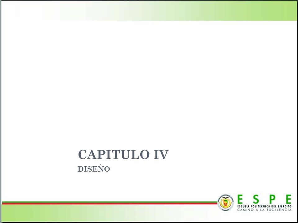 CAPITULO IV DISEÑO